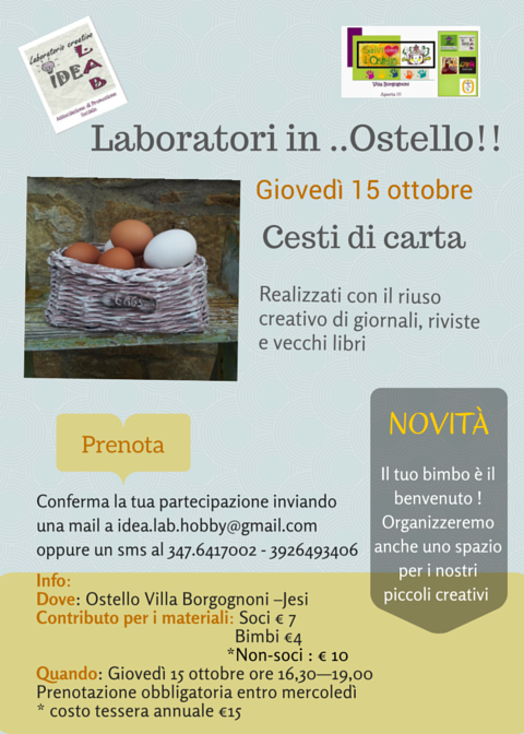 Laboratori in ..Ostello!! cesti 2