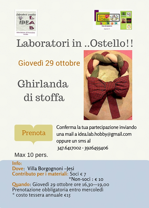 Laboratori in ..Ostello!! CUCITO